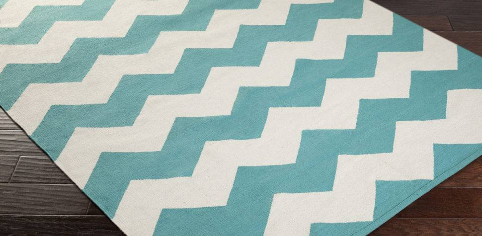 Artistic Weavers Vogue Collins Awlt Teal White Area Rug