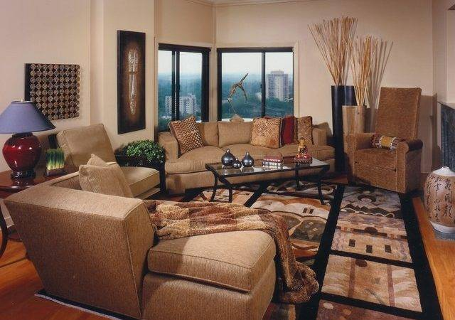 Asian Inspired Living Room