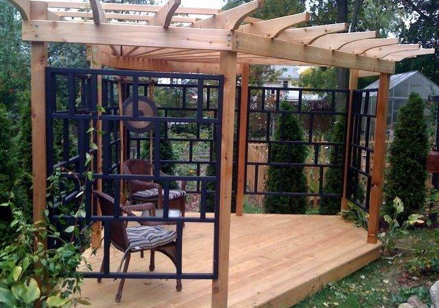 Asian Inspired Pergola Patio New York