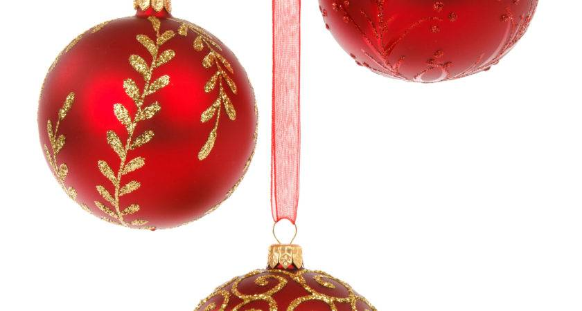 Assorted Christmas Ornaments White