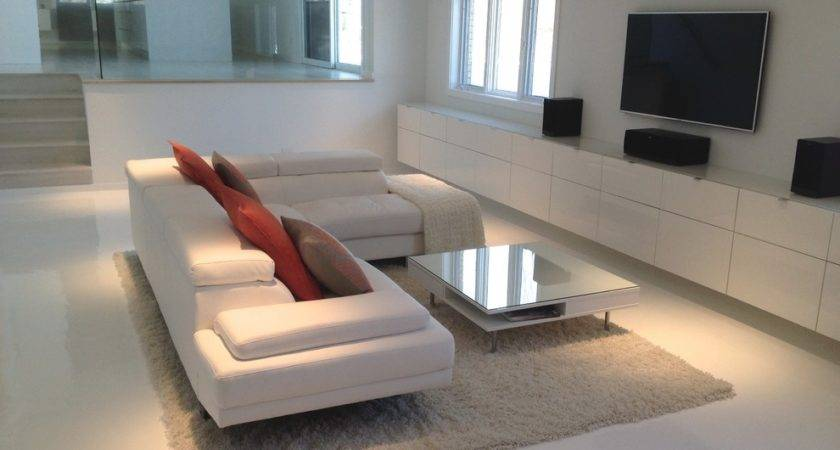 Astounding White Leather Sectional Sofa Decorating Ideas