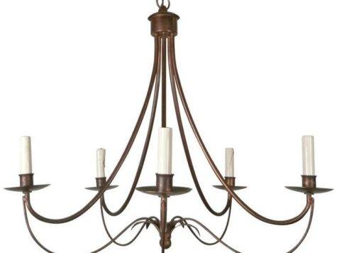 Attractive Mid Century Modern Wrought Iron Chandelier