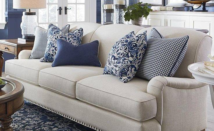 Attractive Pillows Sofas Decorating Residence