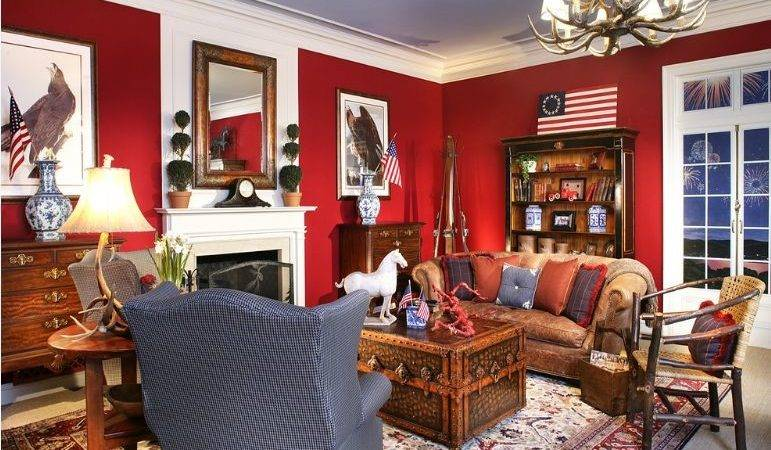 Attractive Red White Living Room Interior Designs