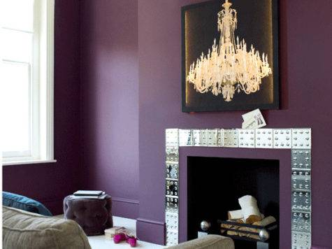 Aubergine Living Room Housetohome