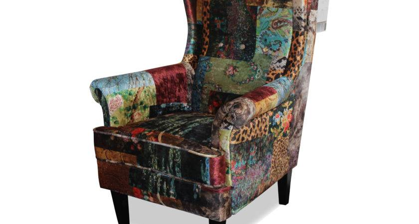 Austin Wingback Chair Upholstered Digital Print