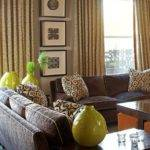 Awesome Blue Lime Green Brown Living Room Decor
