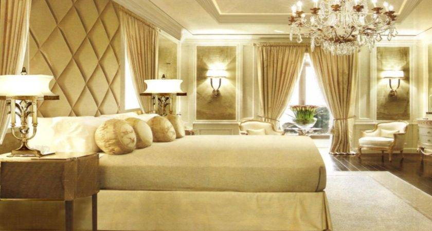 Awesome Chic Gold White Bedroom Design