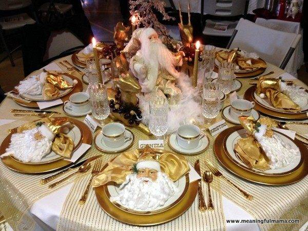 Awesome Gold Christmas Table Centerpieces