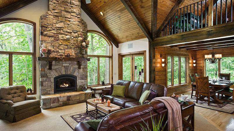 Awesome Log Homes Photos Home Touches