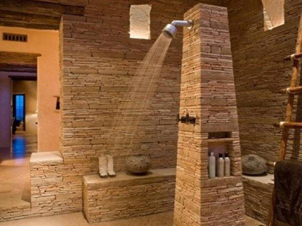 Awesome Natural Stone Bathrooms Home Design Interior