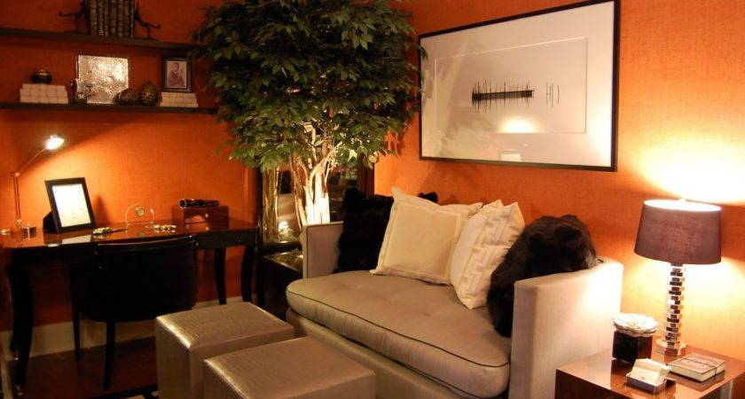 Awesome Orange Living Rooms Decorating Ideas Beige
