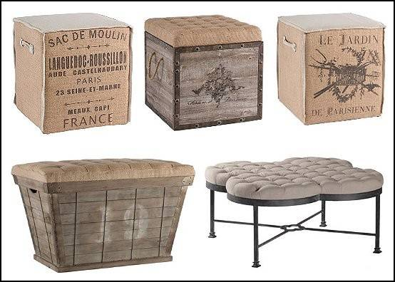 Awesome Ottoman Style Furniture Industrial Chic