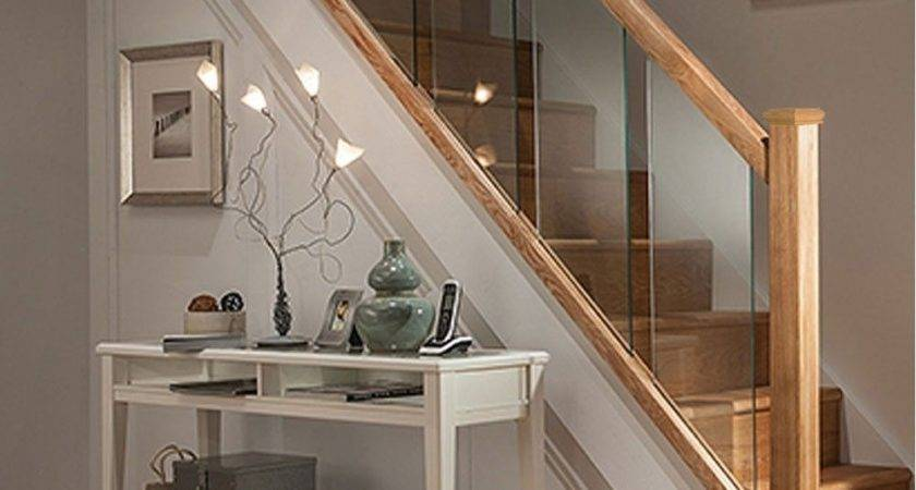 Axxys Reflections Oak Glass Step Staircase