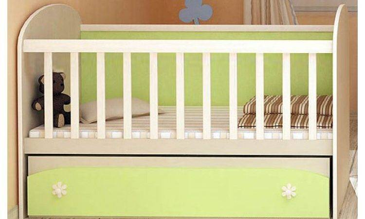 Baby Colour Combinations One Drawer Swing Bed Diana