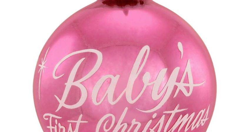 Baby First Christmas Pink Ornament Hungary Made