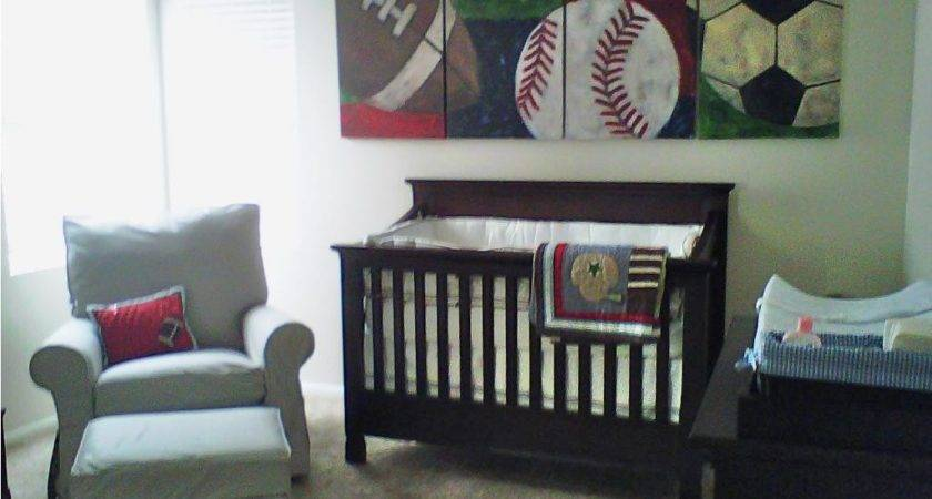 Baby Nursery Decor Green Boy Sports