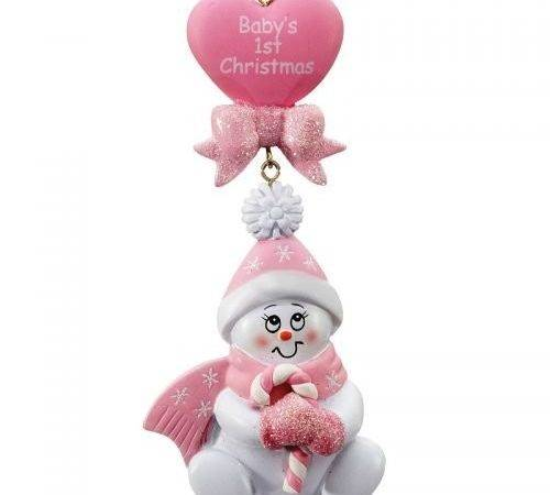 Baby Pink Christmas Decorations Lights Card