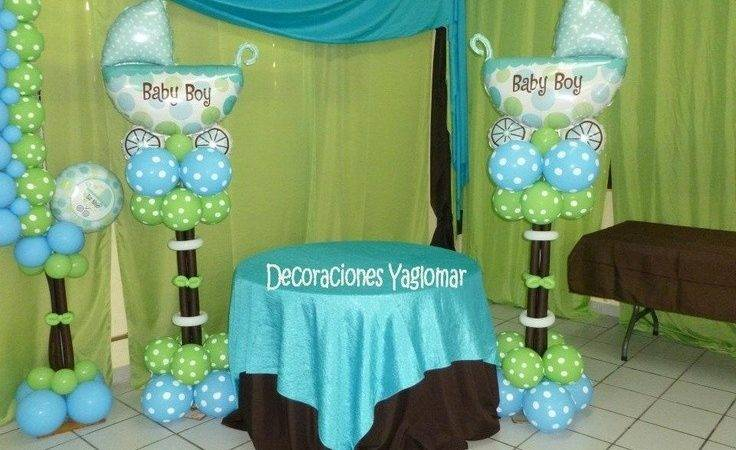 Baby Shower Blue Green Decorations