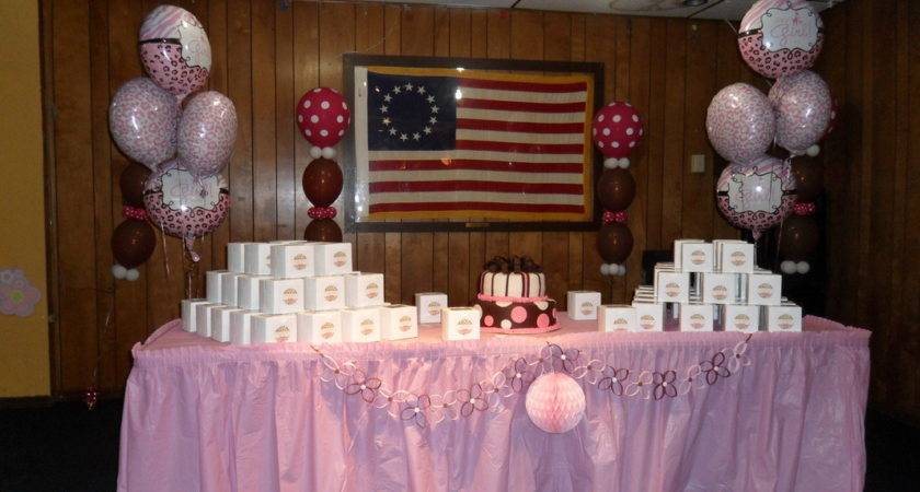 Baby Shower Brown Pink White Party Decorations
