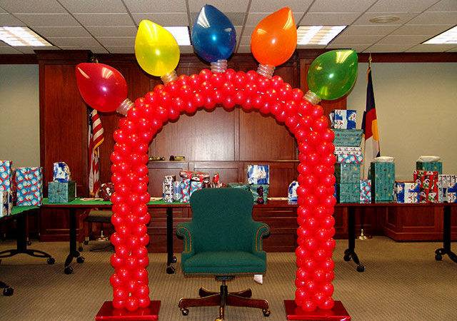 Balloon Decoration Christmas Party Decorating