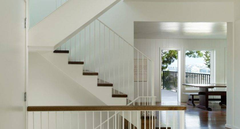 Banister Railing Ideas Staircase Transitional Open