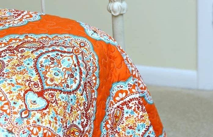 Bargain Burlap Turquoise Orange Gets Every Time