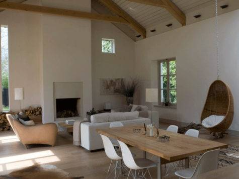 Barn Style Living Room Open Plan Decorating