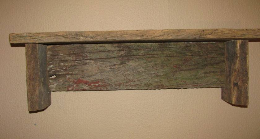 Barn Wood Shelf Barnwood Primitive Rustic