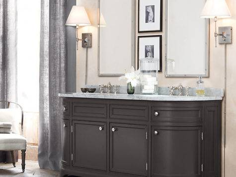 Bath Cabinet Hardware Grasscloth