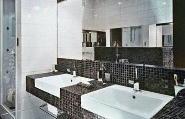 Bathroom Black Mosaic Tile Inspiration