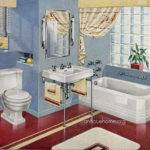 Bathroom Red Blue Design Love