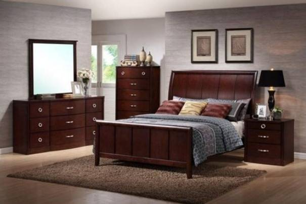 Baxton Studio Argonne Piece Wooden Modern Bedroom Set