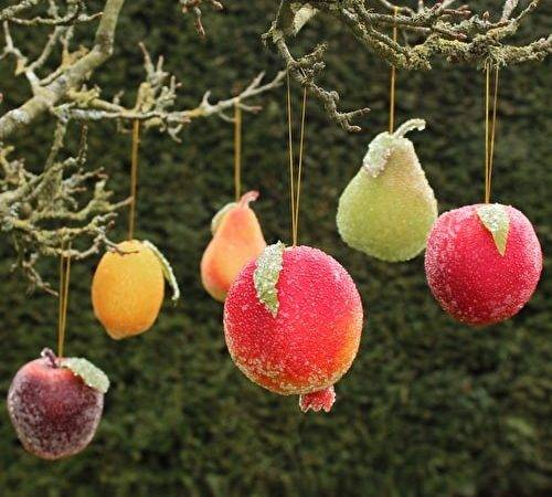 Beaded Fruit Baubles