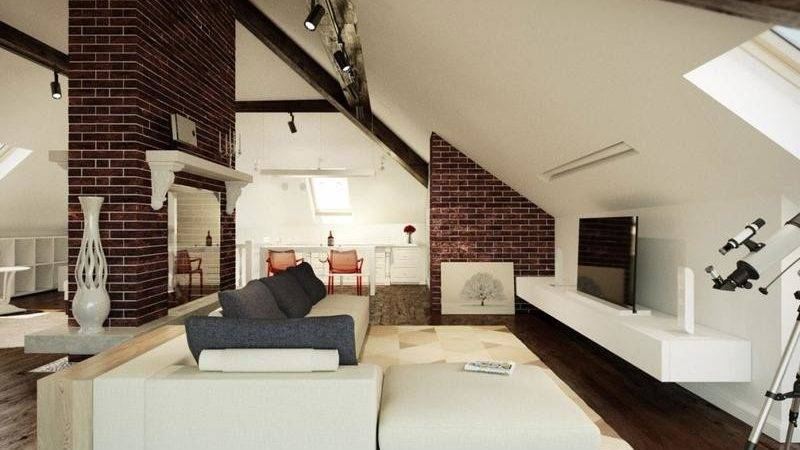 Beautiful Attic Living Room Design Ideas Rilane