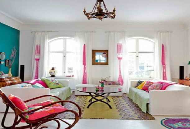 Beautiful Color Ideas Bright Living Room Decor Hall