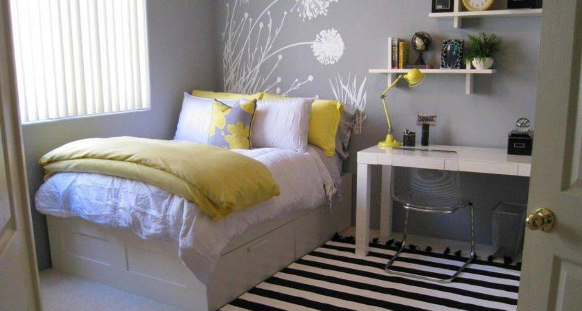 Beautiful Grey Yellow Bedroom Incredible Homes