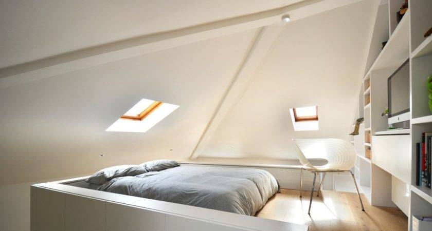 Beautiful Loft Design Solution Space Shortage