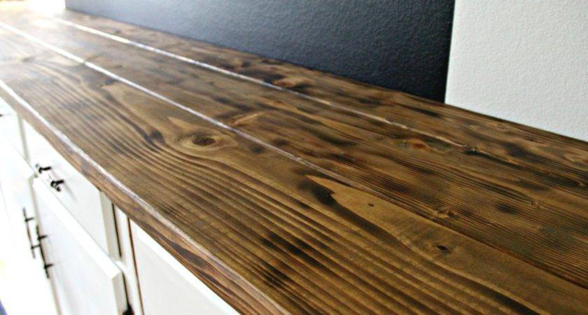 Beautiful Make Wood Bar Countertop Wildwoodrooms