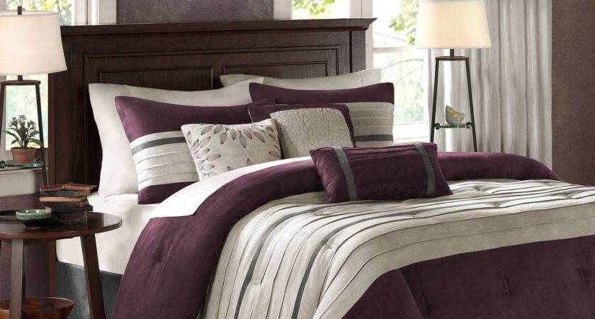 Beautiful Modern Chic Textured Soft Purple Plum Black