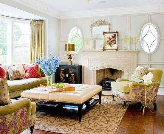 Beautiful Modern Traditional Formal Living Room Decorating