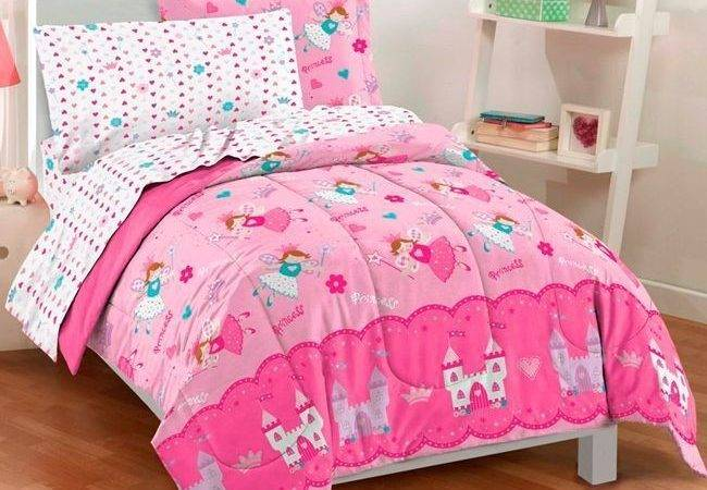 Beautiful Pink Hearts Dot Fairy Castle Girls Bed Bag