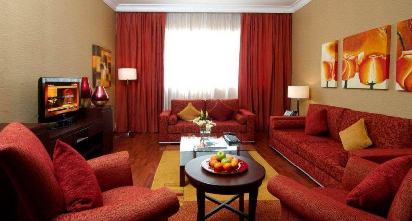 Beautiful Red Curtain Suitable Reddish Modern Living