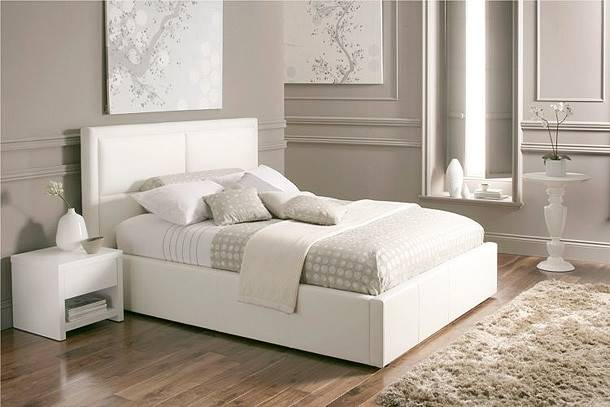 Beautiful White Color Leather Beds Time Sleep Freshnist