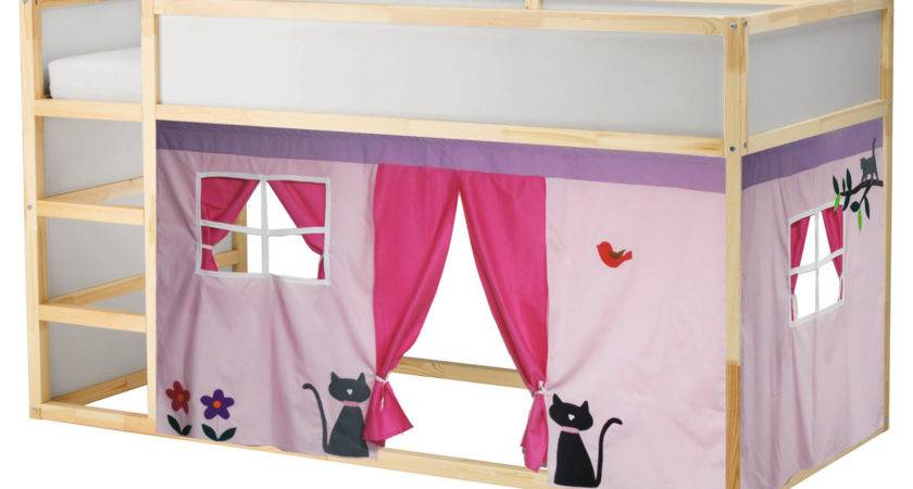 Bed Playhouse Tent Loft Curtain
