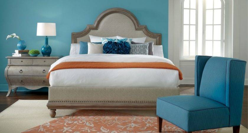 Bed Walls Colour Combinations Painting Blue Bedrooms