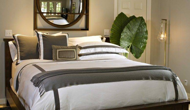 Bed Without Headboard Bedroom Contemporary Master