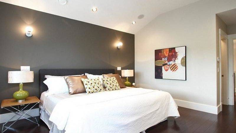 Bedroom Accent Wall Color Home Design Inside