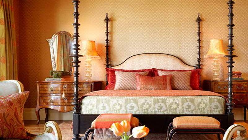 Bedroom Applying Moroccan Inspired Bedding Theme Design