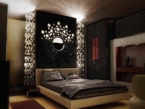 Bedroom Black Decorating Ideas Circle Decor